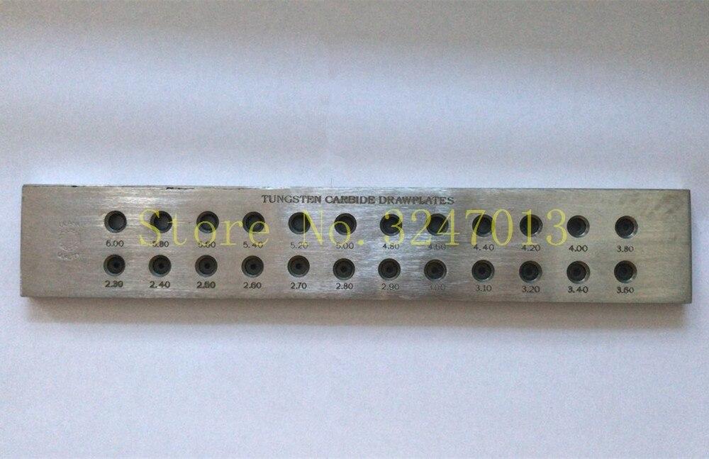 Plaque de serrage en acier de fabrication de bijoux de 24 trous pour des outils de bijoutiers