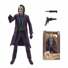 2Set 31-45cm The Joker Heath Lesger PVC Action Figure Model 18 Male Big Figures Collectible Toys Doll Kids Christmas Gift