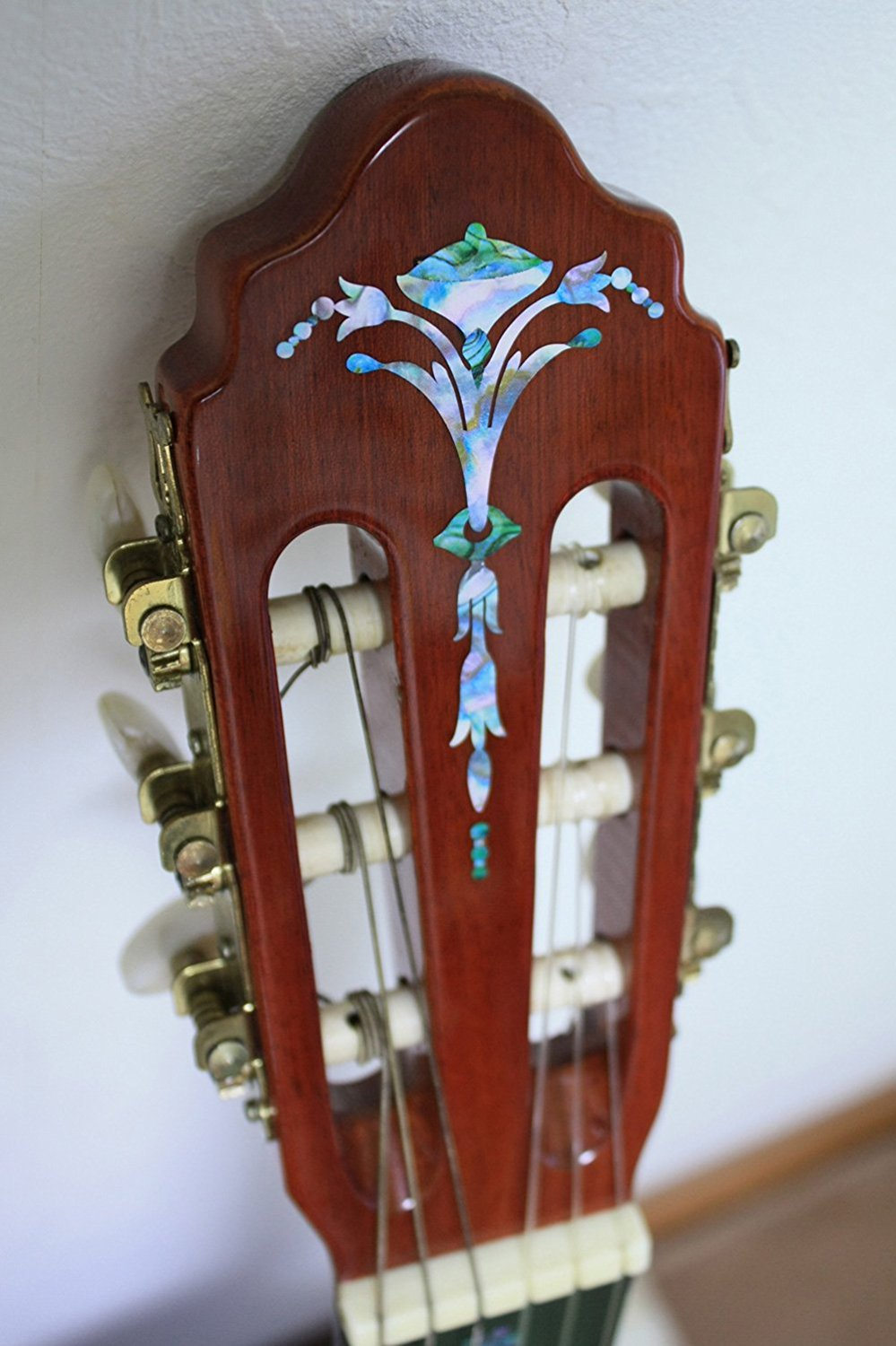 Inlay Sticker Decal Guitar Headstock In Abalone Theme - Old Torch Abalone Mixed Color jockomo p50 gb16 inlay sticker decal for guitar bass body twisted snake made in japan