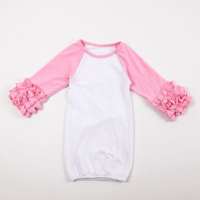 Long Sleeve Ruffled Infant Gown Personalized Ruffled Nightgowns ...
