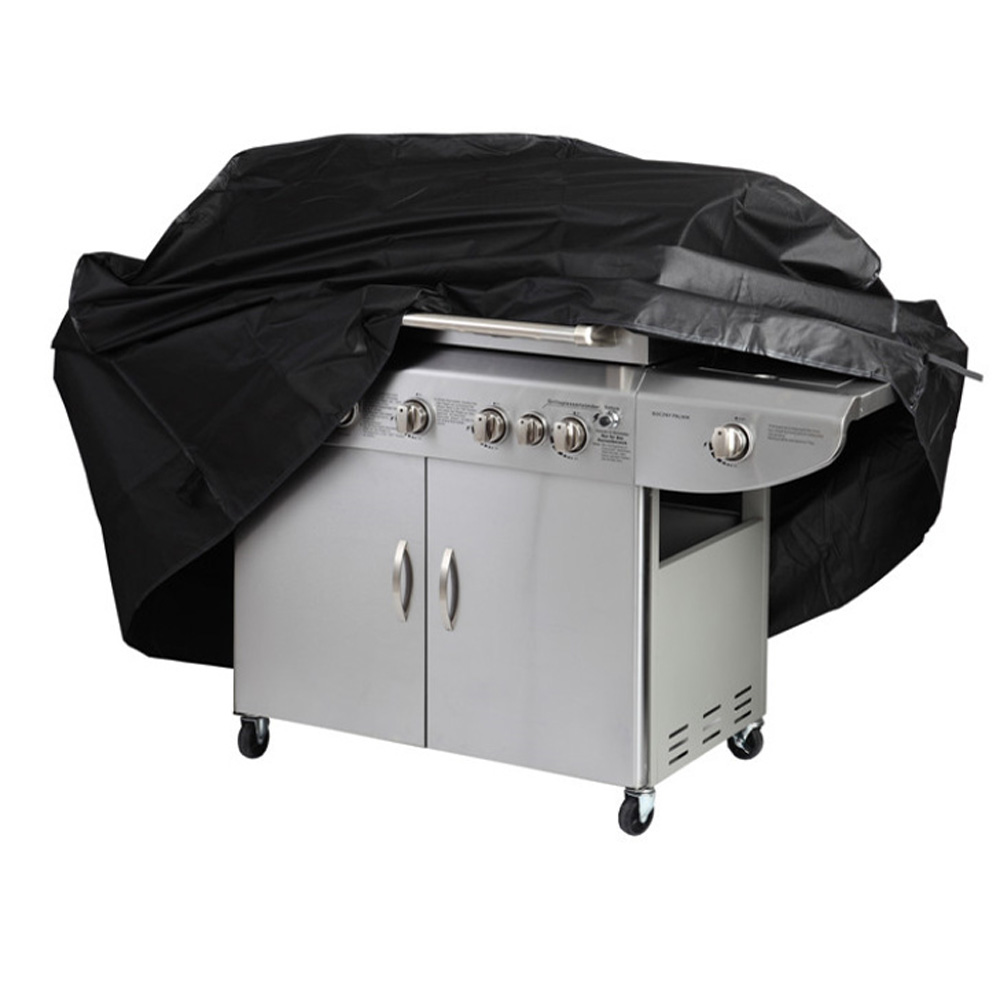 Black Waterproof BBQ Grill Barbeque Cover Outdoor Rain Grill Barbacoa Anti Dust Protecto ...