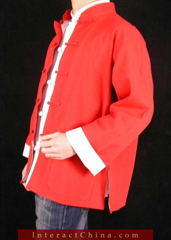 c9329fad81 Fine Linen Red Kung Fu Martial Arts Tai Chi Jacket Coat XS XL or Tailor  Custom Made-in Jackets from Men s Clothing   Accessories on Aliexpress.com