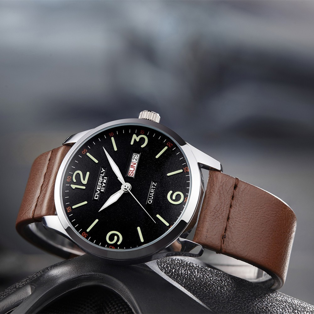 EYKI Business Leather Sport Male Clock Simple Wrist Watch Men Watches 2017 Luxury Brand Mens Sports Watch Waterproof Date Quartz eyki reloj hombre fashion mens watches top brand luxury leather quartz watch luminous sport men wrist watch male clock black
