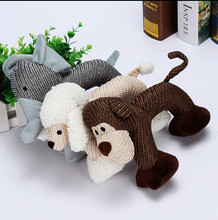 Cute Pet Dog Toy Funny Puppy Chew Squeaker Squeaky Plush Play Sound Toys For Pet(China)