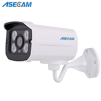 Hot H.264 HD 1080P IP Camera POE Outdoor Network Metal Bullet Security CCTV Onvif P2P Onvif Night Vision 4 Array LED цена 2017