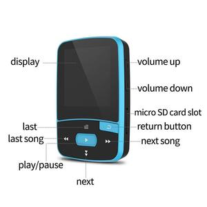 Image 3 - Bluetooth MP4 Player 16GB Clip Sport Sweatproof Lossless Audio Player with FM Radio pedometer and Bookmark,Maximum Support 64GB