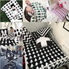 Handmade Home Knitted Blankets Black and White Cotton Cross/Rabbit/Swan/Tree/Milk Bottle/Heart/Cat/Soldier Sofa Throw Blankets
