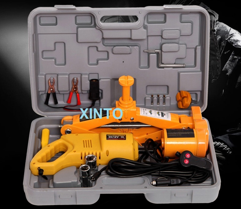 3TON 2-head For Both Sedan And SUV 12V Auto Electric Hydraulic Jack Car Lift Jack Tire Repair Tools Toolkit Jack