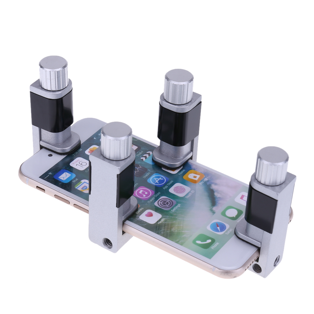 4pcs/set Adjustable Rubber LCD Screen Clip Fixture Fastening Clamp Ferramentas Cell Phone Repair Tool Kit for phone Tablet clip on fish eye 0 67x macro lenses set for cell phone black gold