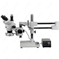 Trinocular Stereo Microscope AmScope Supplies 3.5X 90X Trinocular Zoom Stereo Microscope w/ Heavy duty Metal 80 LED Ring Light