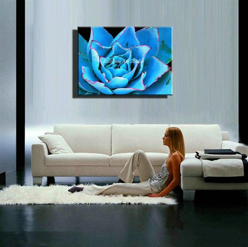 Pedazo grande azul naturaleza comedor dibujo cuadro de la pared ...