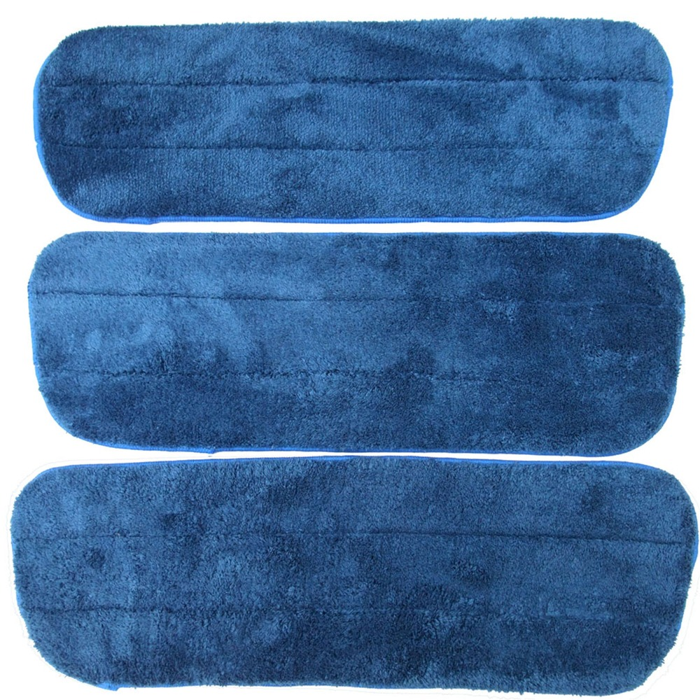 Revelar de Limpeza de microfibra Mop Pads Substituição Limpar o Pó de Limpeza de Pelúcia Auto-adesiva Mops Refill 3 pcs 16