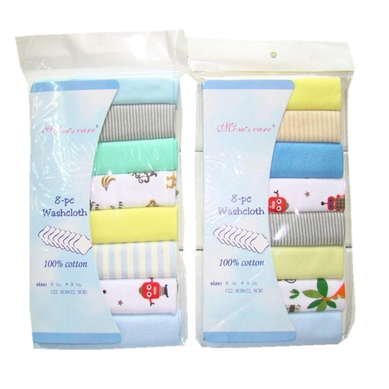 8pcs / Pack 100% Newborn Baby Cotton Towels Saliva Towel Towel Baby Boys Girls Bebe Toalha Towel Handkerchief KF011
