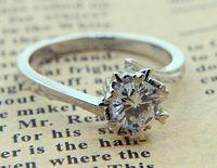 0.8ct круглый moisanite с 3ct Обручальные кольца снежинка кольцо