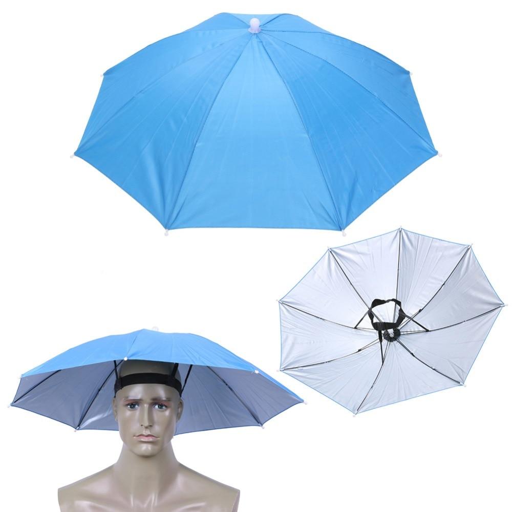 12 Kinds Fishing Umbrella Hat Cap Anti-Rain Headwear Handsfree Head Umbrella Anti-Sun Hat Adults Supplies Cappello Impermeabile