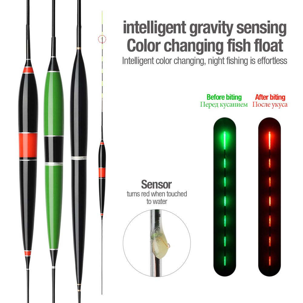 DONQL Smart Fishing Led Light Float Luminous Glowing Float Fish Bite Automatically Remind Electric Fishing Buoy With Batteries (2)