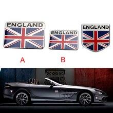 Car styling British flag aluminum shield car logo 3D sticker badge decal