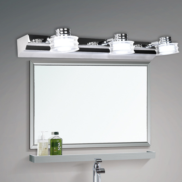 Eenvoudige moderne ikea rvs led spiegel lichten slaapkamer badkamer ...