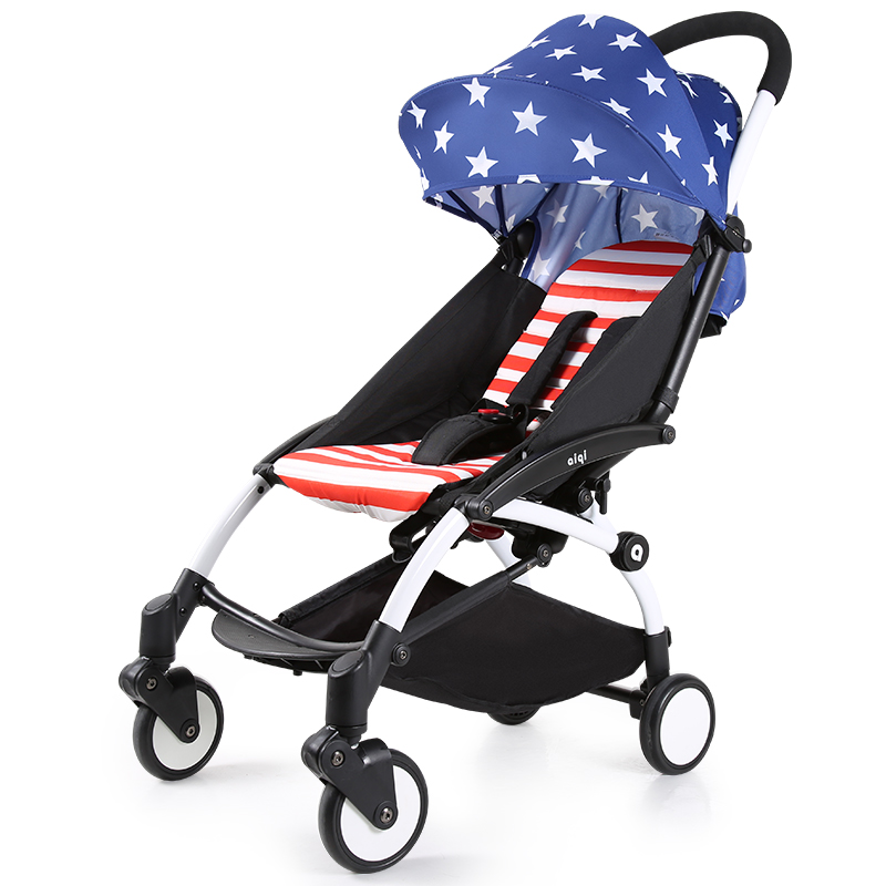 ФОТО baby stroller pushchair pram sit flat foldable carriage aluminum alloy can be board the plane portable summer ultra-light car