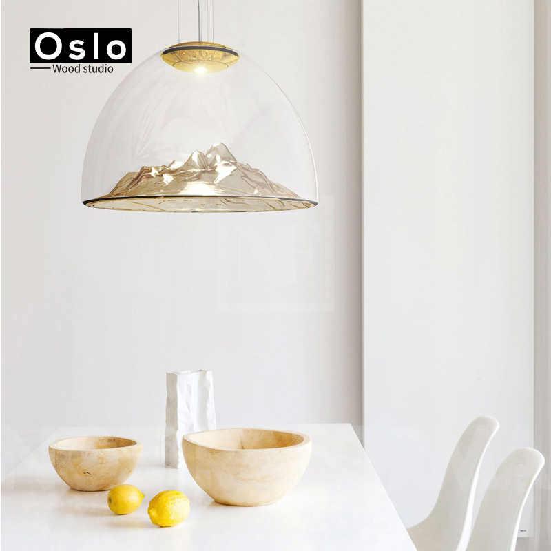 Oslo Ahşap Modern minimalist tasarım cam kolye lamba altın gümüş cam lambası Oturma odası yemek odası Için Dekoratif aydınlatma