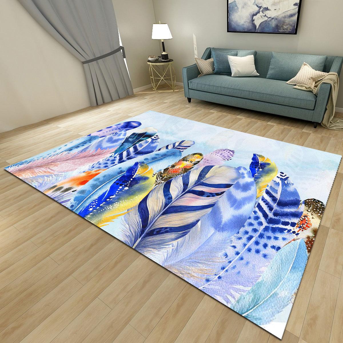Européen géométrique abstrait simple tapis salon chevet tapis super doux thé table personnalisé matelas salon tapis