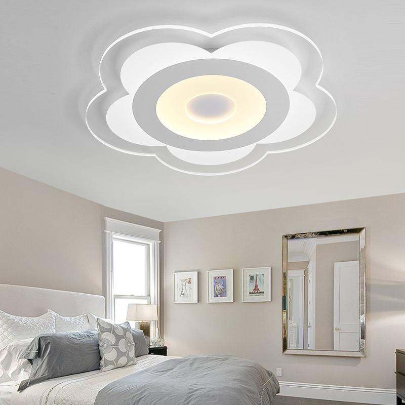 Ceiling Lights & Fans Modern Simple Ultra-thin Acrylic Surface Mounted Smart Led Ceiling Lights Lustre Lampe For Kitchen Living Room Bedroom Luminaria