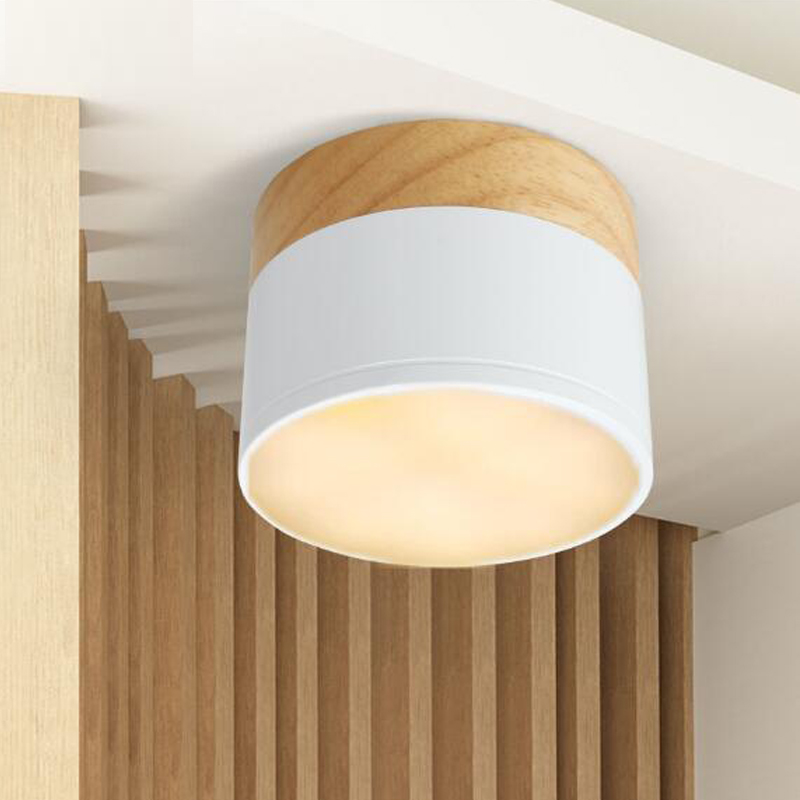 LED White outfit down light balcony window softwood aisle corridor lamp light wall lamp NO hole 3W 5W minimalist style