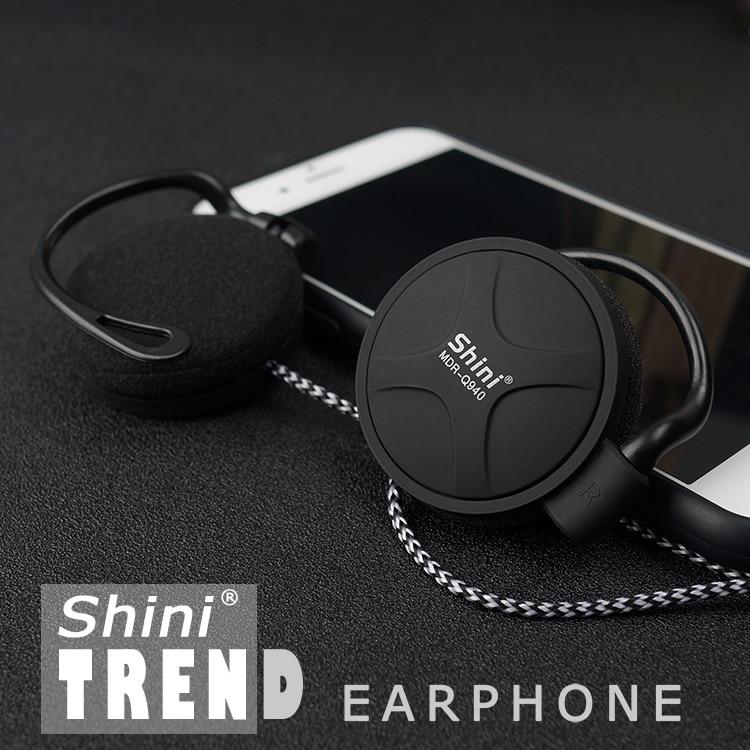 ShiniQ940 Free Shipping Headphones 3.5mm Headset EarHook Earphone For Mp3 Player Computer Mobile Telephone Earphone Wholesale
