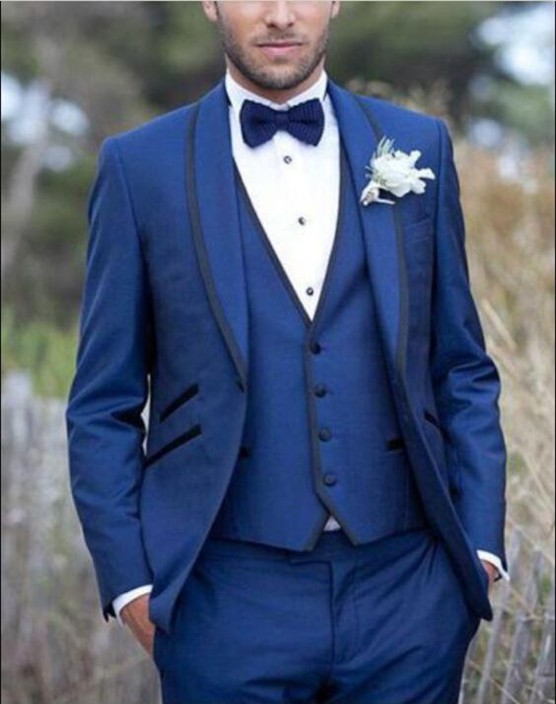 Grey And Blue Prom Suits - Go Suits