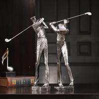 European Abstract Golf Sport Art Sculpture Athlete Figurine Figure Statue Resin Art&Craft Home Decoration Accessories R1396