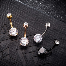 Surgical Piercing Round Belly Button Jewelry Rings For Women