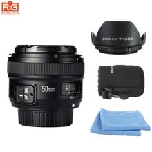Yongnuo yn 50mm f/1.8 af lente yn50mm abertura foco automático grande abertura para câmera nikon dslr como AF S 50mm 1.8g saco de lente livre