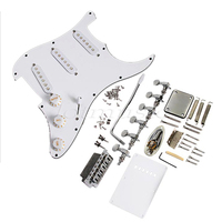 Electric Guitar Complete Loaded Pickguard 3Ply Material Pearl Back Plate Tremolo Cover Scratch Plate
