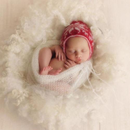 Newborn Baby Stretch Wrap Boys Girls Photography Photo Prop Swaddle Blanket Rug