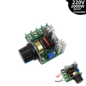 AC 220V 2000W SCR Regulator napięcia ściemniacze ściemniacze Regulator prędkości termostat tanie i dobre opinie HESAI AC Motor 5 3 x 4 7 x 2 8 cm 50-220V AC
