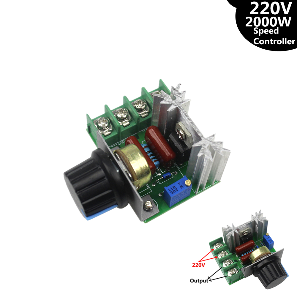 Smart Electronics 220V 2000W Speed Controller SCR Voltage Regulator Dimming Dimmers Thermostat ...