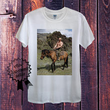 Vladimir Putin Riding T-Shirt Men OR Womens Fitted Russia President Horse Obama t shirt Fashion Classic Unique Free shipping