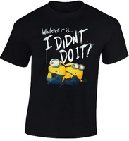 Despicable Me Minion Men S T Shirt I Didn T Do It Funny Graphic Printed Top