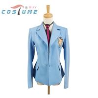 Ouran High School Host Club Boy School Uniform Blazer Blue Jacket Coat Tie Anime Halloween Cosplay