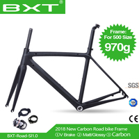 2018 New Model UD Full Carbon Road Bike Frames Racing Bicycle Carbon Framesets Cycling Road Bike Frames with Fork Seatpost Clamp