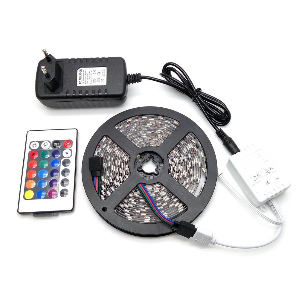 LED juostelės šviesa 5050 RGB 5M 300LED lanksčios juostelės - LED Apšvietimas - Nuotrauka 1