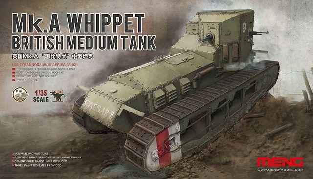 Meng modelo TS-021 1/35 britânico tanque médio mk. A Whippet