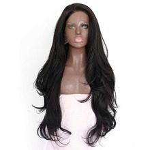Fantasy Beauty Black Synthetic Wigs for women - Natural Looking Long Wavy Right