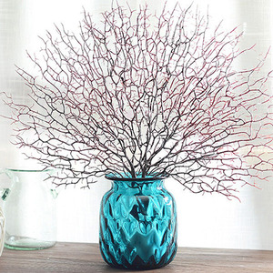 Image 3 - Artificial Coral Branch Fake Tree Branches Dried Plants White Plant Home Wedding Decoration LBShipping