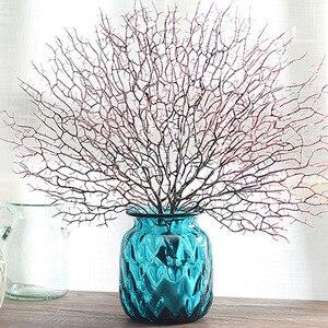 Image 3 - Ramos de árvore falsos ramos de coral artificiais plantas secas planta branca decoração de casamento para casa lbshipping