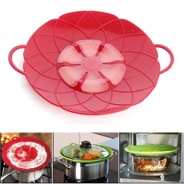 New Arrival Kitchen Gadgets Silicone Lid Spill Stopper Pot Cover 28 5cm Diameter Cooking Lids