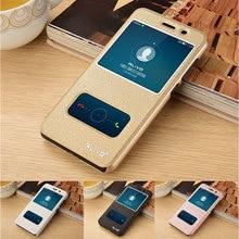 Для Coque Huawei Y5 II случае роскошный вид окна кожаный флип чехол для Huawei Y5 II Y5II 2/ Huawei Y6 II компактный чехол для телефона