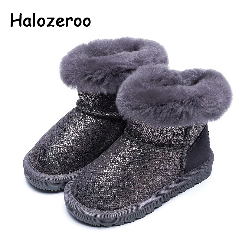 New Winter Fashion Baby Girl Fur Snow Boots Boy Black Warm Mid Calf Boots Children Genuine Leather Boots Kid Brand Soft ShoesNew Winter Fashion Baby Girl Fur Snow Boots Boy Black Warm Mid Calf Boots Children Genuine Leather Boots Kid Brand Soft Shoes