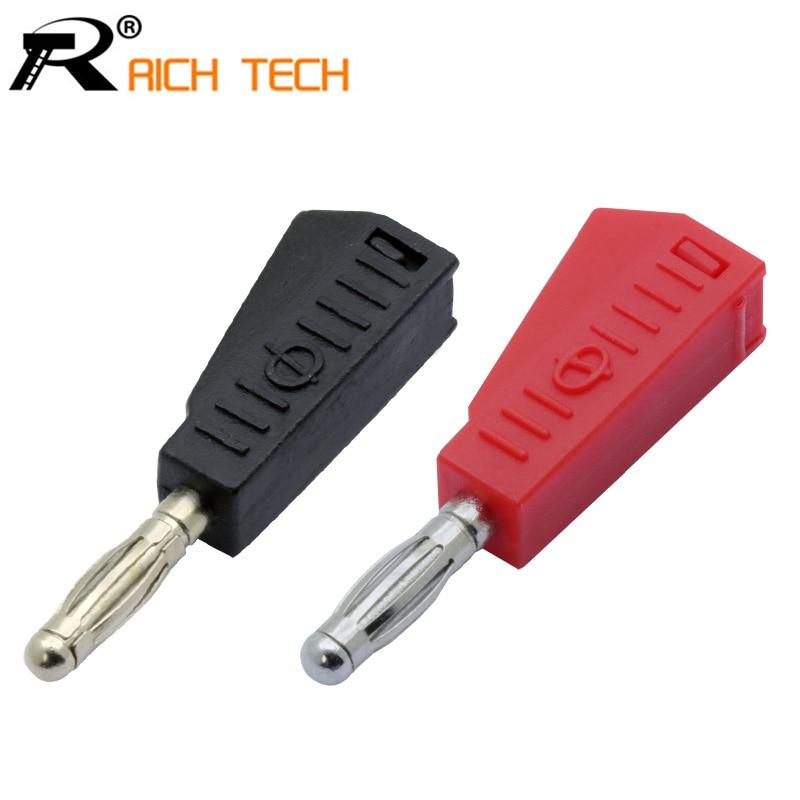 2pairs Banana Plug Red+black 4mm Speaker Banana Male Plug Connector Binding Post Terminals 4pcs/lot
