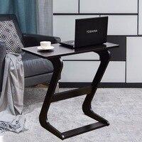 Goplus Portable Sofa Table Modern End Side Tables Console Snack TV Coffee Tray PC Laptop Desk Z Shape Wooden Desk HW56267BR
